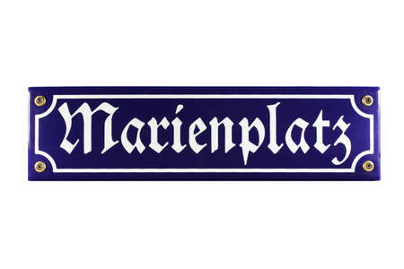 emaille: Marienplatz M�nchen German enamel Street Sign