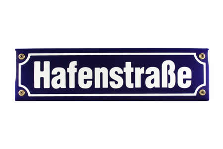 German enamel Street Sign photo