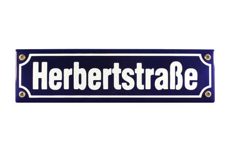 Herbertstra�e Hamburg St  Pauli German enamel Street Sign