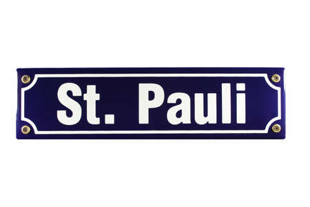 reeperbahn: German enamel Street Sign