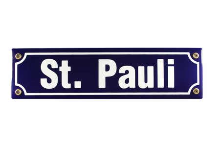 German enamel Street Sign