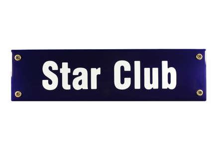 reeperbahn: Star Club Hamburg German enamel Street Sign