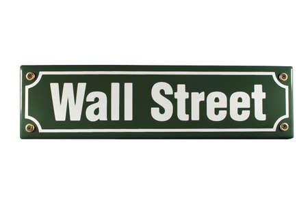 Wall Street German enamel Street Sign