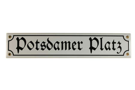 emaille: Potsdamer Platz Berlin German Enamel Street Sign