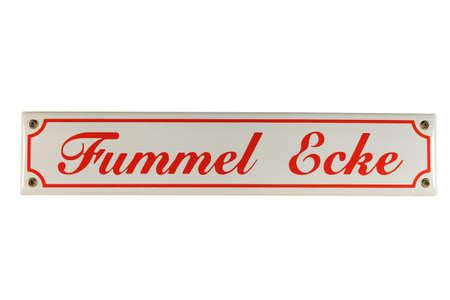 Fummel Ecke German Enamel Street Sign photo