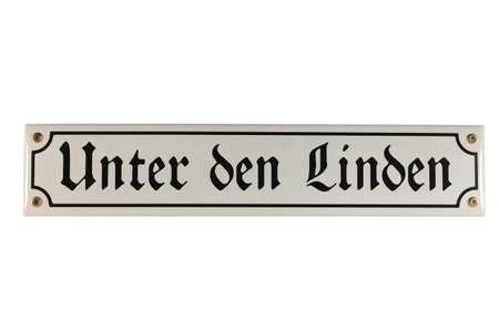 emaille: Unter den Linden Berlin German Enamel Street Sign