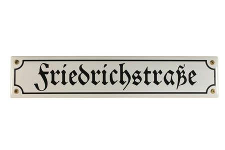emaille: Friedrichstra�e Berlin German Enamel Street Sign