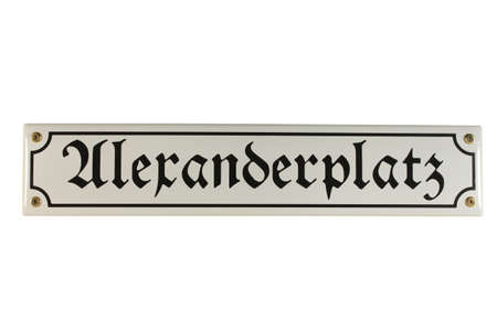 workable: Alexanderplatz Ost Berlin German Enamel Street Sign