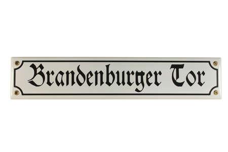 Brandenburger Tor Berlin German Enamel Street Sign