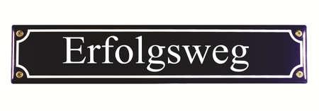 emaille: Erfolgsweg German Enamel Street Sign Stock Photo