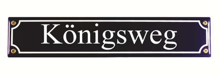 Königsweg German Enamel Street Sign