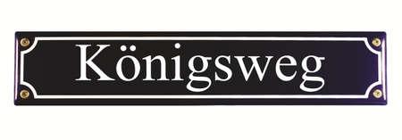 emaille: K�nigsweg German Enamel Street Sign