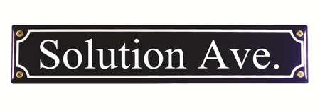 Solution Ave  Enamel Street Sign