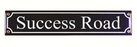 Success Road Enamel Street Sign