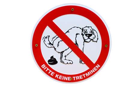 Hundehaufen keine Tretminen German sign