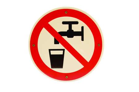 Kein Trinkwasser Piktogramm German sign Stock Photo - 16950206