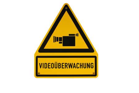 shingle: Video�berwachung Kamera German sign