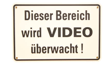 Dieser Bereich wird Video &uuml,berwacht German sign Stock Photo - 16949489