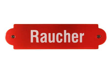 shingle: German railway sign Raucher Stock Photo