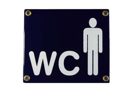 gents: WC Men Gents blue enamel sign pictogram