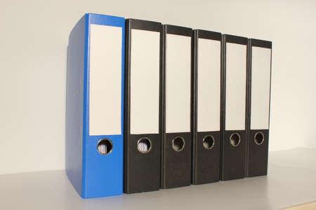 Document file 4x black 1 x blue folder left