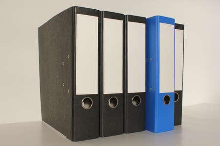 Document file 4x black 1 x blue folder pulled