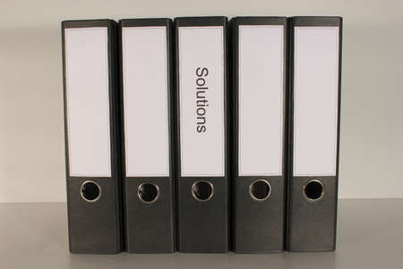 bindings: Document file Solutions 5x black straight