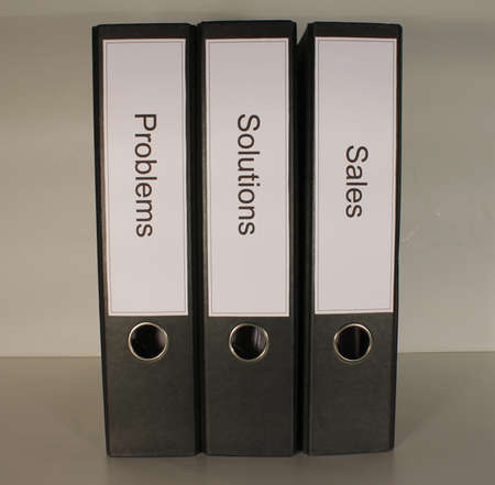 dossier: Document file Problems Solutions Sales black straight