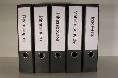 Aktenordner Rechnung Mahnung Insolvenz Stock Photo - 17082029