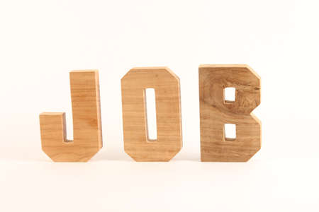 JOB text from wood letters Buchstaben straight Stock Photo - 17216922