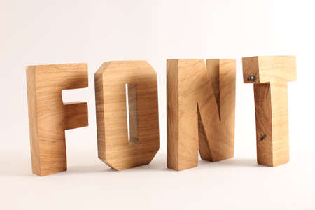 buchstabe: FONT text from wood letters Holz Buchstaben white Background