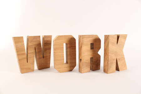 naturholz: Work text from wood letters Holz Buchstaben white Background