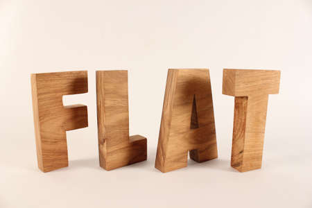 buchstabe: Flat text from wood letters Buchstaben white Background