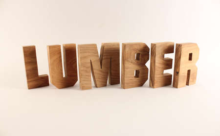 buchstaben: Lumber text from wood letters Holz Buchstaben white Background