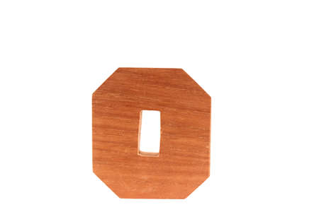 Wooden letter o isolated