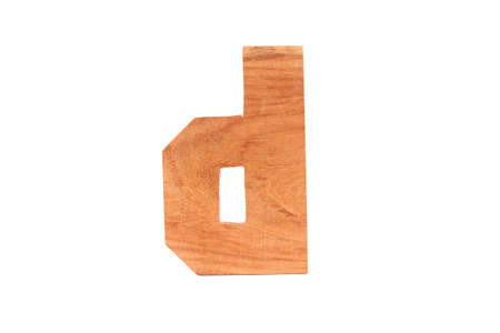 Wooden letter d isolated