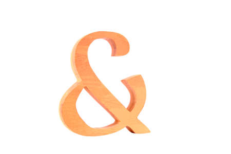 Wooden letter   plus  isolated straight