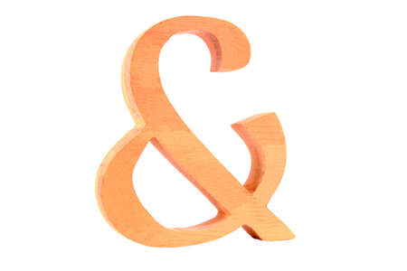 Wooden letter   plus  isolated
