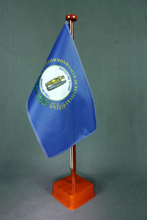 Table Flag Kentucky Stock Photo