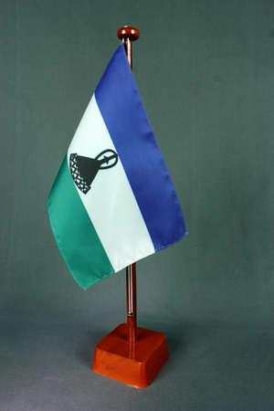 Table Flag Lesotho