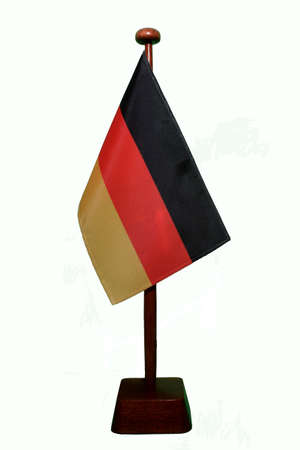Table Flag Germany isolated Stock Photo