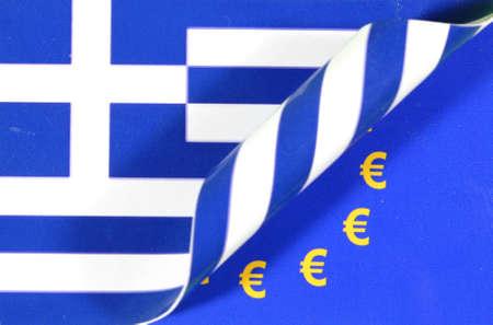 Flag Greece Europe Euro sign Stock Photo