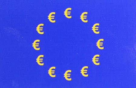 pledge: European flag EURO characters