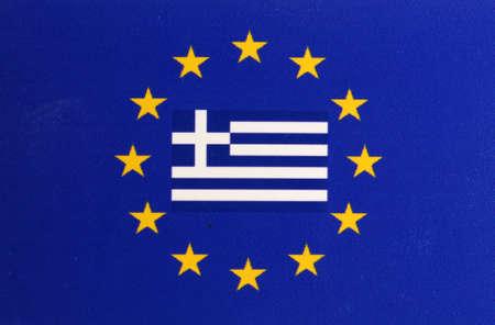 indebtedness: Flag Europe Greece center