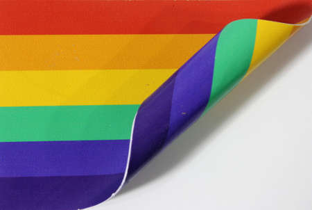 rolled: Rolled rainbow flag Stock Photo