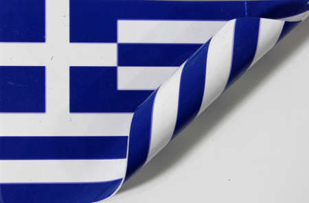Greece flag rolled