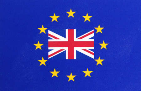 Europe Flag Great Britain Flag Stock Photo