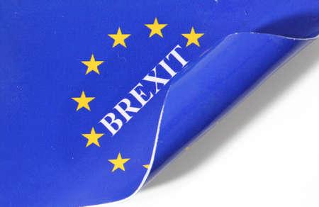 Rolled Brexit European flag