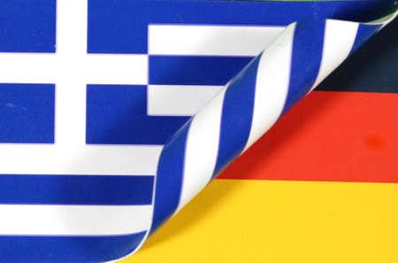 indebtedness: Flag Greece Germany