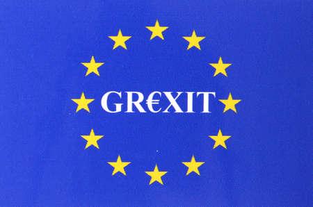 Grexit European flag